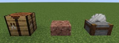 花崗岩のハーフブロックにクラフトする