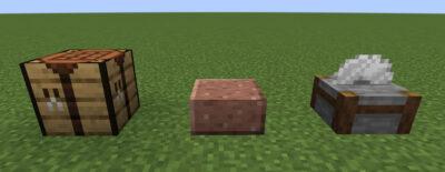 磨かれた花崗岩のハーフブロックにクラフトする