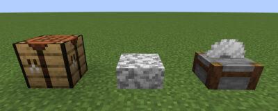 閃緑岩のハーフブロックにクラフトする