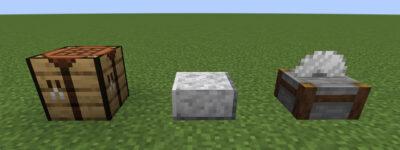 磨かれた閃緑岩のハーフブロックにクラフトする