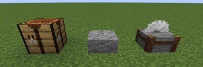 安山岩のハーフブロックにクラフトする