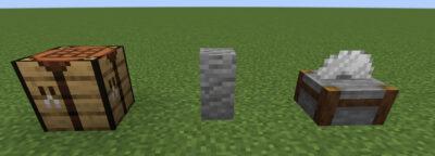 安山岩の塀にクラフトする
