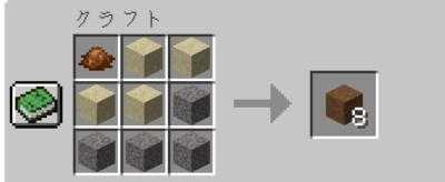 茶色のコンクリートパウダーにクラフトする