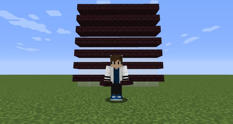 【マイクラ(JE)】ネザーレンガのハーフブロックの入手方法と使い道を解説(もさもさのマインクラフト)