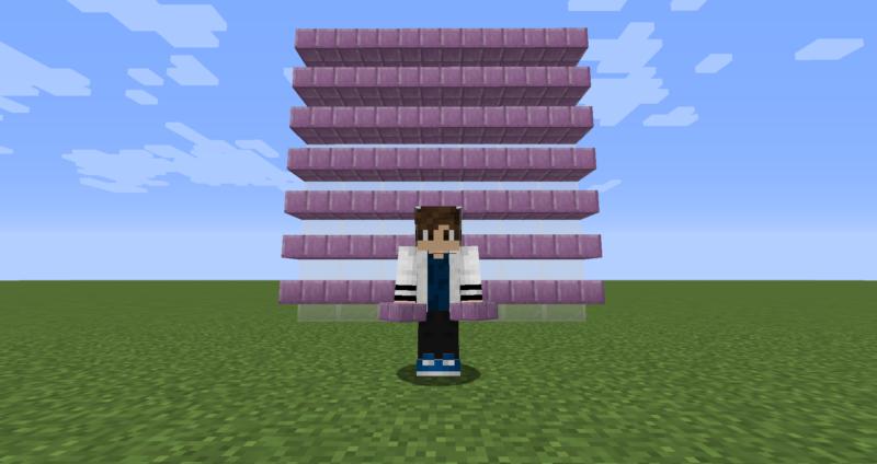 【マイクラ(JE)】プルプァのハーフブロックの入手方法と使い道を解説(もさもさのマインクラフト)
