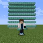 【マイクラ(JE)】プリズマリンレンガのハーフブロックの入手方法と使い道を解説(あかまつんのマインクラフト)