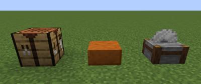研がれた赤い砂岩のハーフブロックにクラフトする