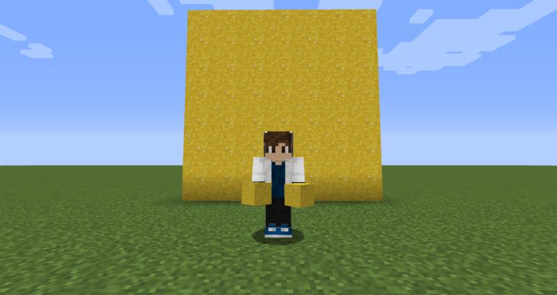 【マイクラ(JE)】黄色のコンクリートパウダーの入手方法と使い道を解説(もさもさのマインクラフト)