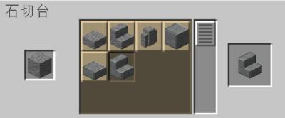 石切台を使って閃縁岩の階段を入手する