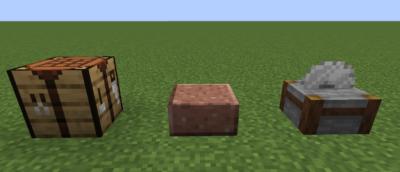 作業台を使って磨かれた花岡岩のハーフブロックを入手する