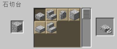 石切台を使って閃縁岩のハーフブロックを入手する