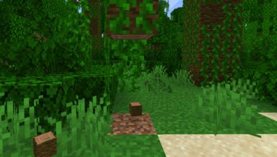 ジャングルの苗木を育ててジャングルの原木を入手する