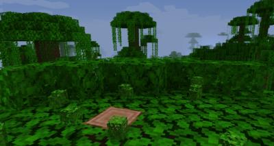 ジャングルの苗木を育ててジャングルの葉を入手する