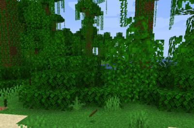 ジャングルの苗木を育てて棒を入手する