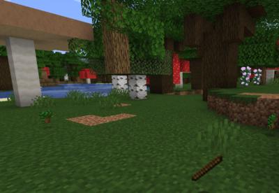 ダークオークの苗木を育てて棒を入手する