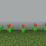 【マイクラ(JE)】赤色のチューリップの入手方法と2つの使い道を解説(あかまつんのマインクラフト)
