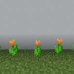 【マイクラ(JE)】橙色のチューリップの入手方法と2つの使い道を解説(あかまつんのマインクラフト)