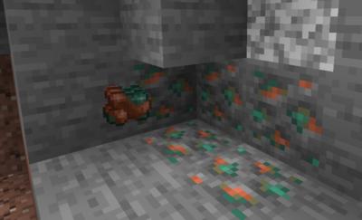 銅鉱石を銅の原石にクラフトする
