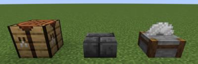 深層岩レンガのハーフブロックにクラフトする