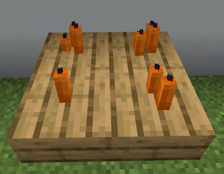 【マイクラ(JE)】橙色のろうそくの入手方法と使い道を解説(もさもさのマインクラフト)