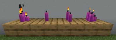 赤紫色のろうそくの使い道