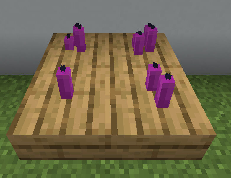 【マイクラ(JE)】赤紫色のろうそくの入手方法と使い道を解説(もさもさのマインクラフト)