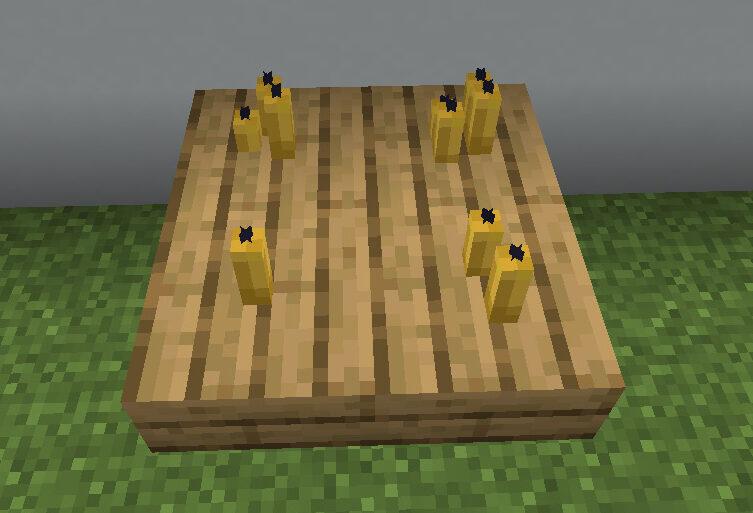 【マイクラ(JE)】黄色のろうそくの入手方法と使い道を解説(もさもさのマインクラフト)