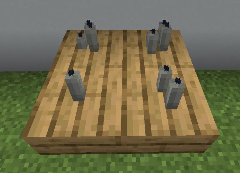 【マイクラ(JE)】薄灰色のろうそくの入手方法と使い道を解説(もさもさのマインクラフト)