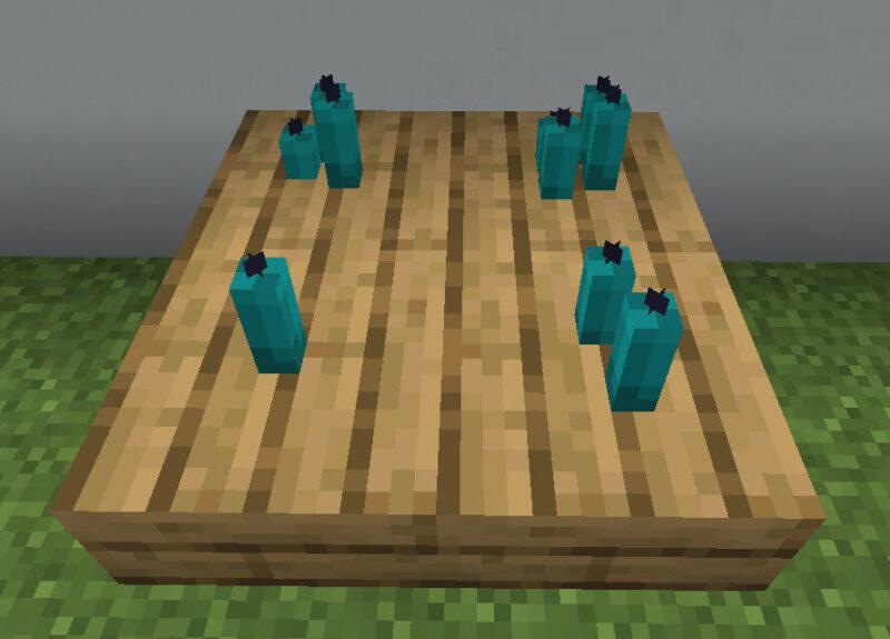 【マイクラ(JE)】青緑色のろうそくの入手方法と使い道を解説(もさもさのマインクラフト)