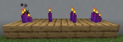紫色のろうそくの使い道