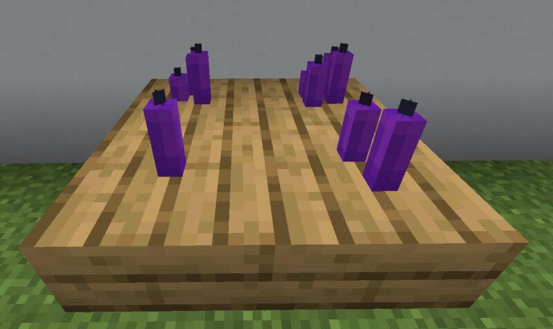 【マイクラ(JE)】紫色のろうそくの入手方法と使い道を解説(もさもさのマインクラフト)