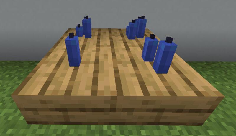 【マイクラ(JE)】青色のろうそくの入手方法と使い道を解説(もさもさのマインクラフト)