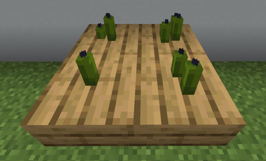 【マイクラ(JE)】緑色のろうそくの入手方法と使い道を解説(もさもさのマインクラフト)