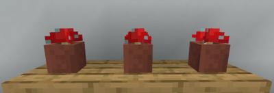 赤色のキノコを部屋のインテリアとして使う