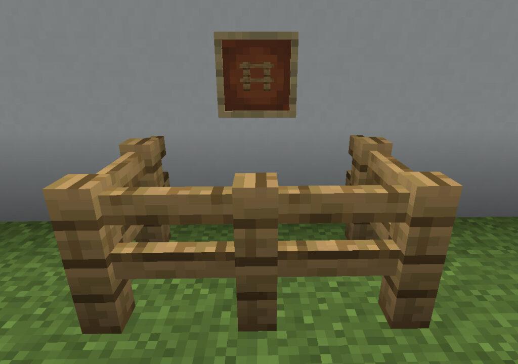 【マイクラ(JE)】オークのフェンスの入手方法と使い道を解説(あかまつんのマインクラフト)
