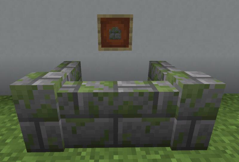 【マイクラ(JE)】苔むした石レンガの塀の入手方法と使い道を解説(あかまつんのマインクラフト)