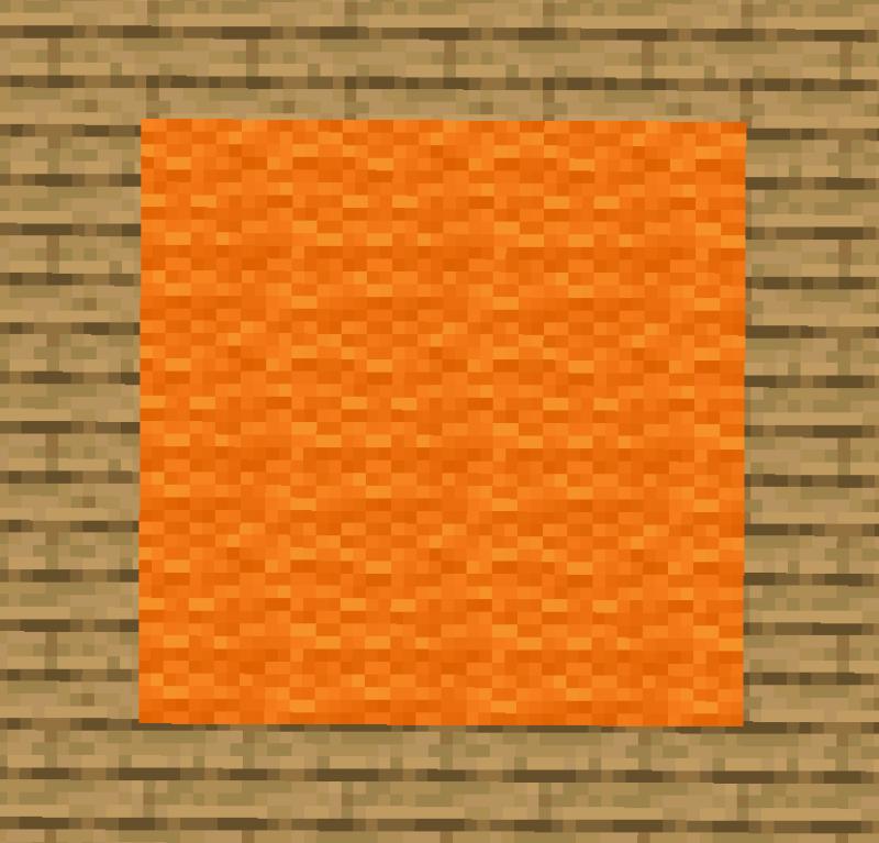 【マイクラ(JE)】橙色のカーペットの入手方法と使い道を解説(あかまつんのマインクラフト)