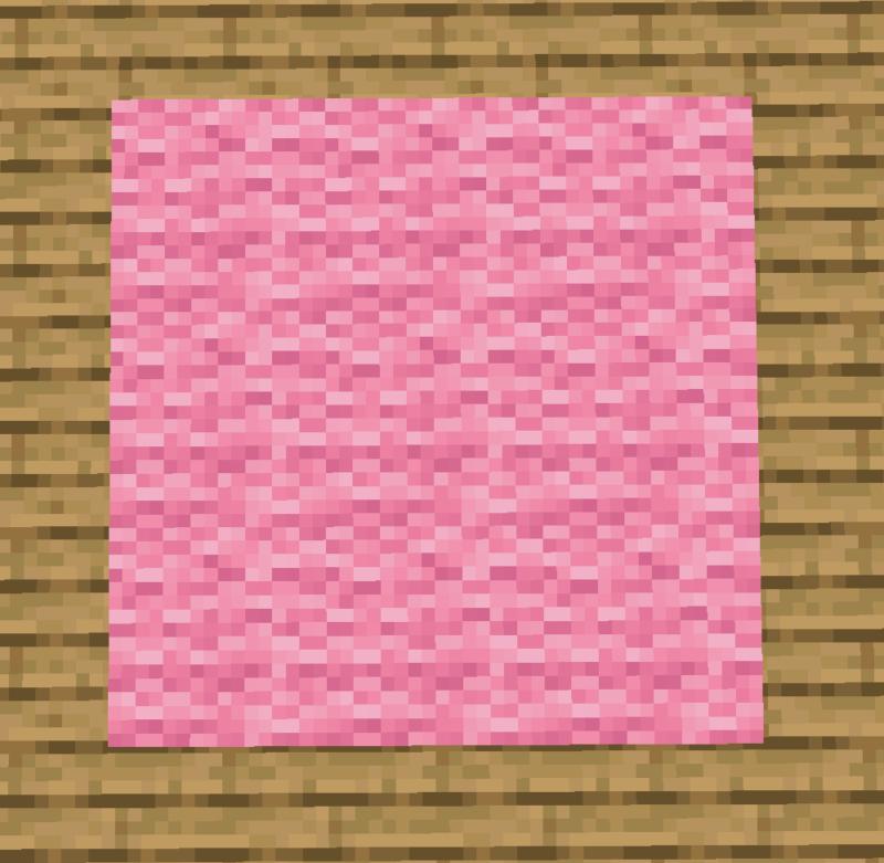 【マイクラ(JE)】桃色のカーペットの入手方法と使い道を解説(あかまつんのマインクラフト)