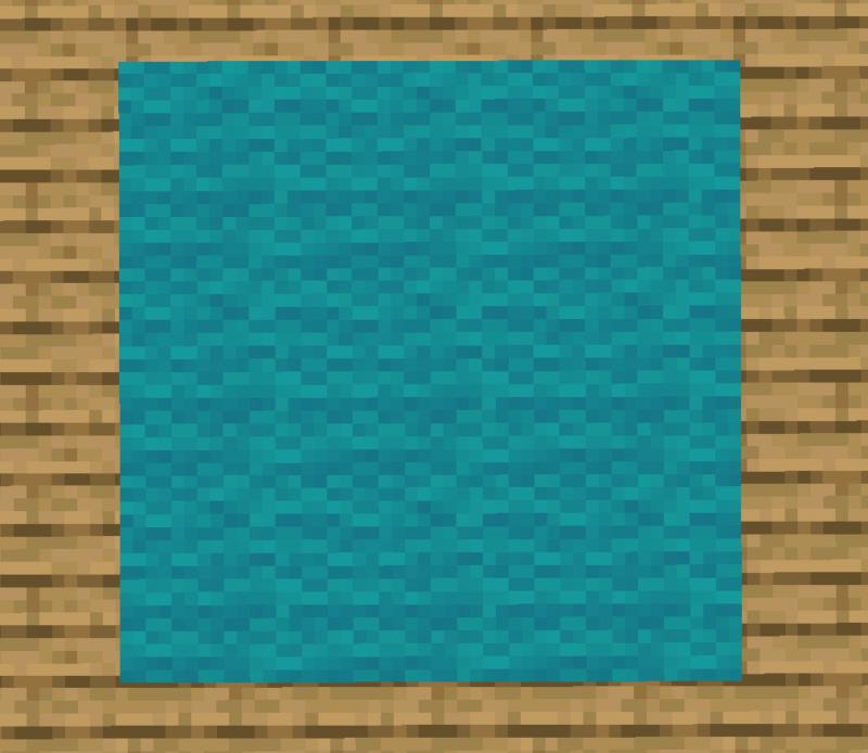 【マイクラ(JE)】青緑色のカーペットの入手方法と使い道を解説(あかまつんのマインクラフト)
