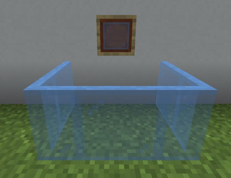 【マイクラ(JE)】空色の色付きガラス板の入手方法と使い道を解説(あかまつんのマインクラフト)