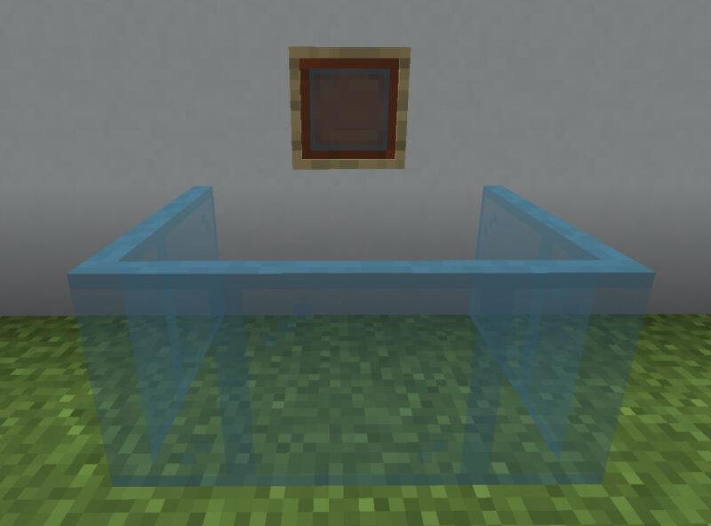 【マイクラ(JE)】青緑色の色付きガラス板の入手方法と使い道を解説(あかまつんのマインクラフト)