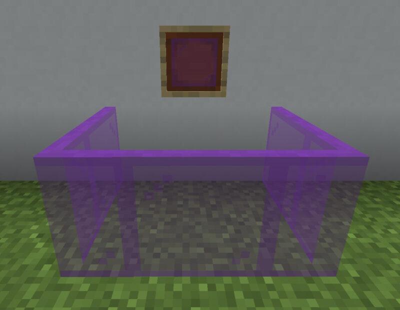 【マイクラ(JE)】紫色の色付きガラス板の入手方法と使い道を解説(あかまつんのマインクラフト)