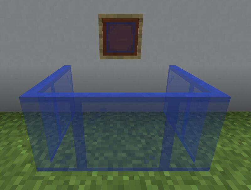 【マイクラ(JE)】青色の色付きガラス板の入手方法と使い道を解説(あかまつんのマインクラフト)