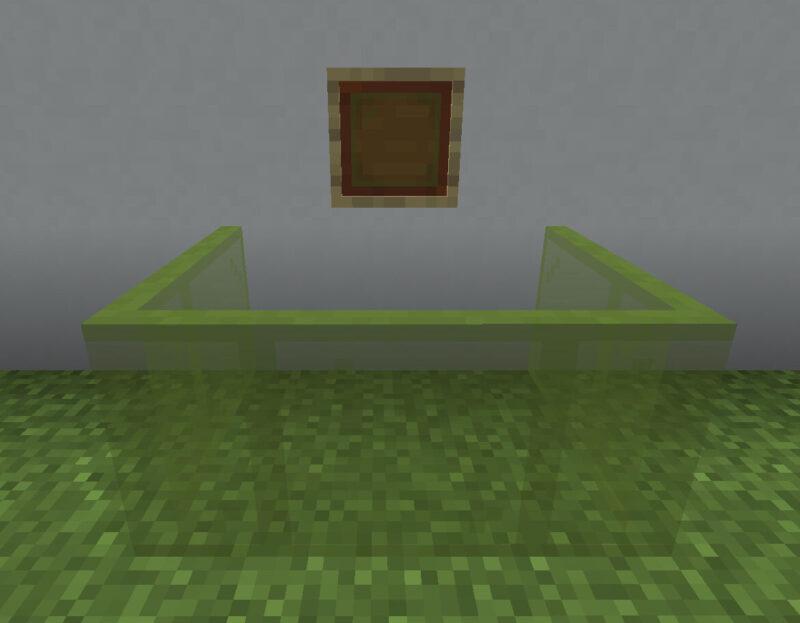 【マイクラ(JE)】緑色の色付きガラス板の入手方法と使い道を解説(あかまつんのマインクラフト)
