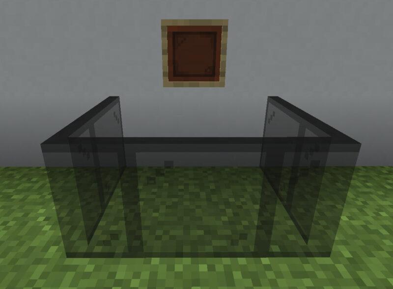 【マイクラ(JE)】黒色の色付きガラス板の入手方法と使い道を解説(あかまつんのマインクラフト)